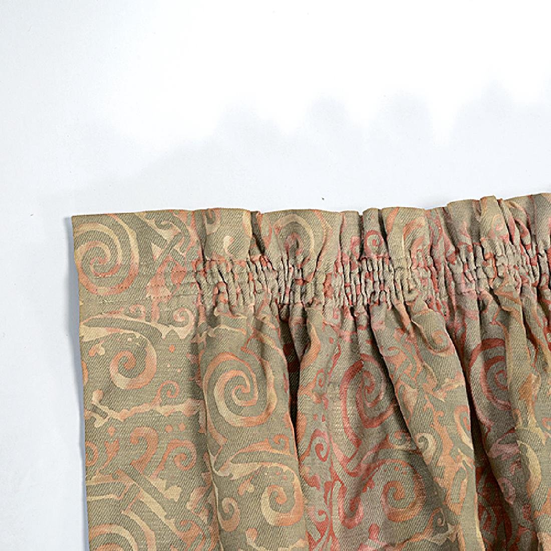 """Four Panels of Fortuny """"Maori"""" Pattern Curtains - 6"""