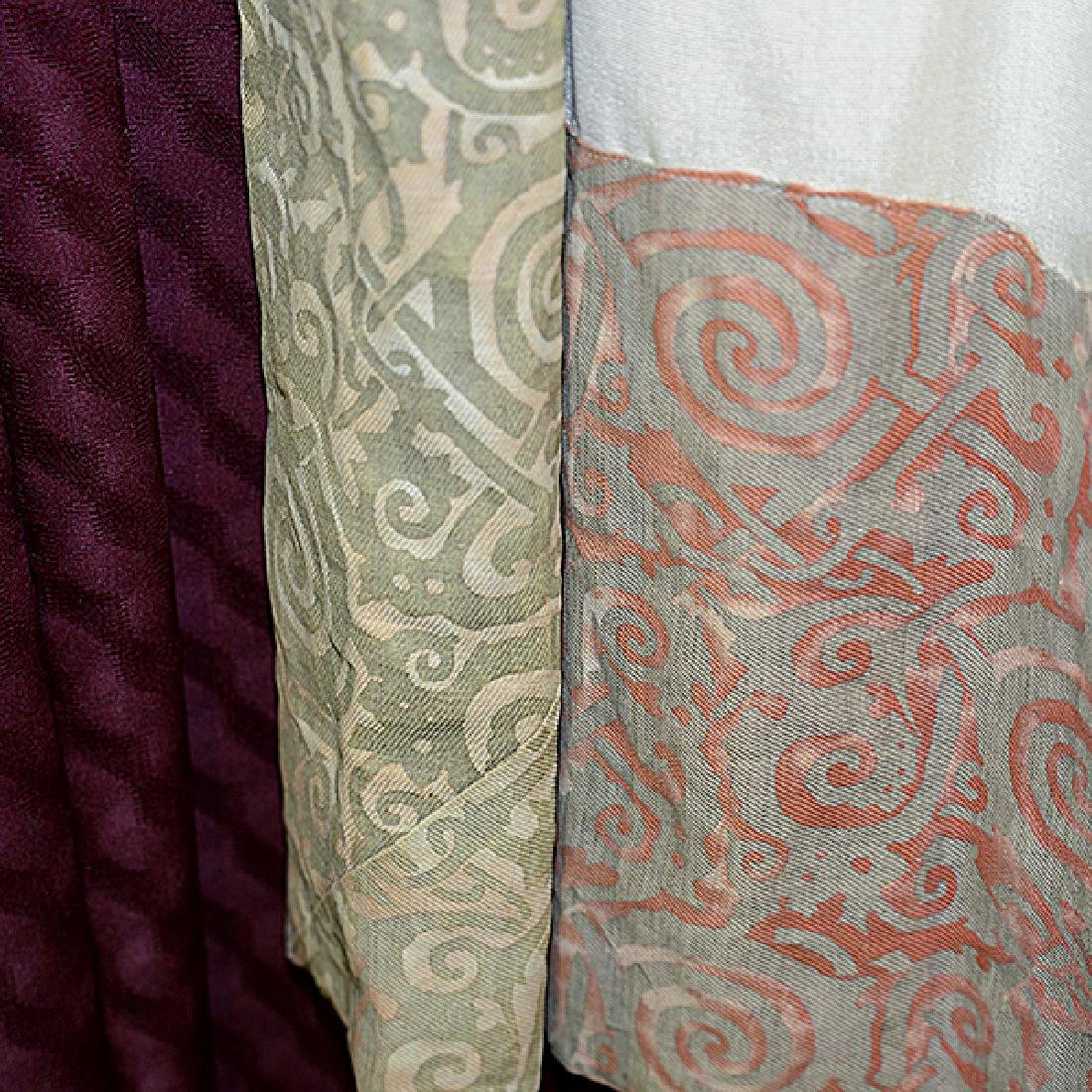 """Four Panels of Fortuny """"Maori"""" Pattern Curtains - 9"""
