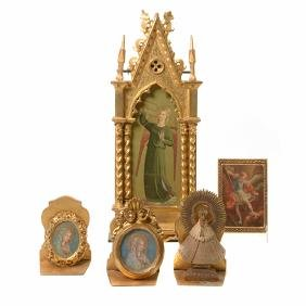 Group of Italian Renaissance Revival Printed Icons and