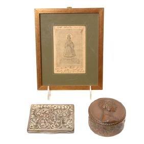 Collection of Three Italian Ladies Dresser Items