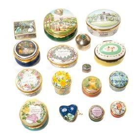 Collection of Porcelain Enameled Boxes