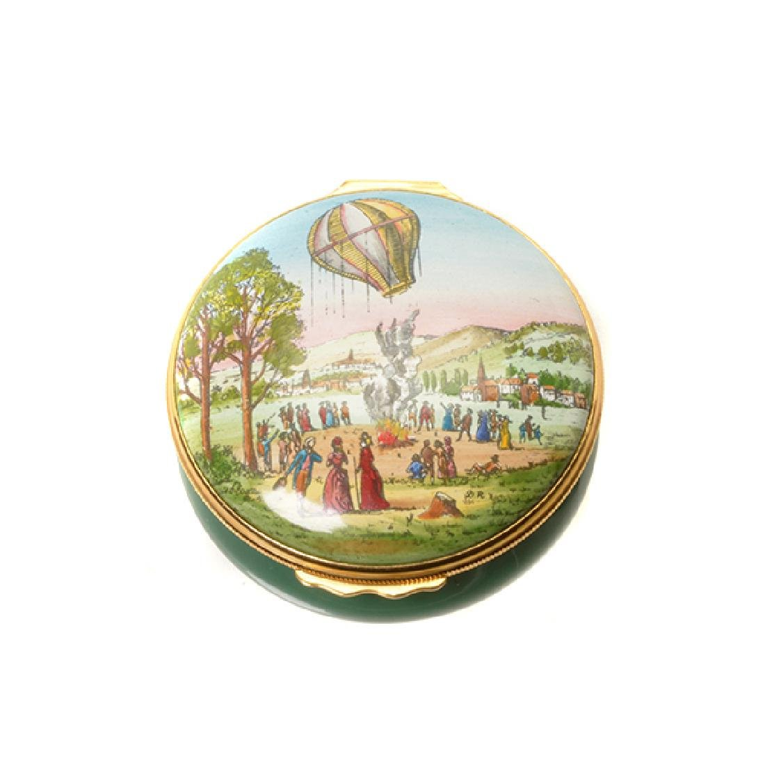 Collection of Porcelain Enameled Boxes - 2