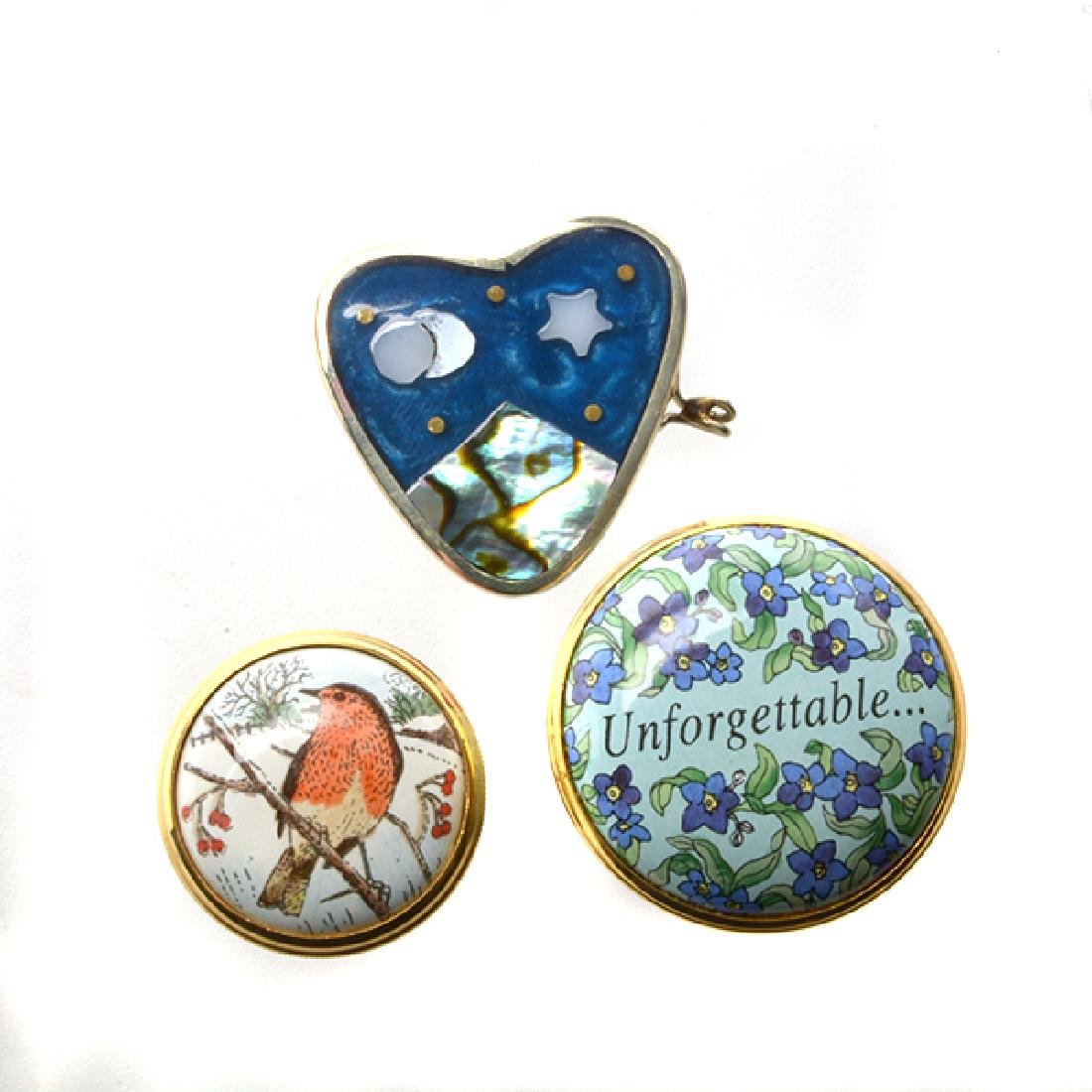 Collection of Porcelain Enameled Boxes - 6