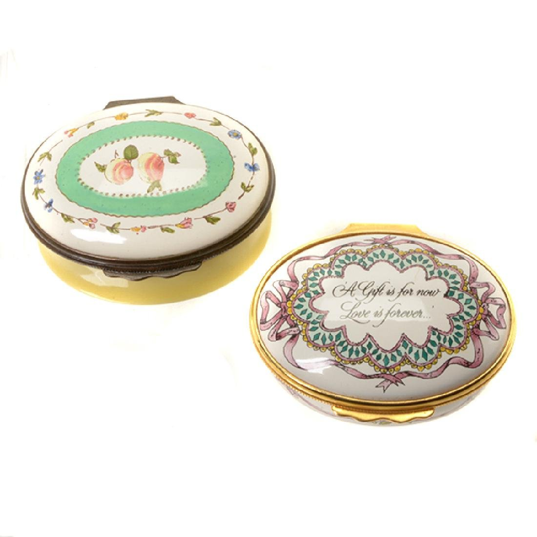 Collection of Porcelain Enameled Boxes - 7