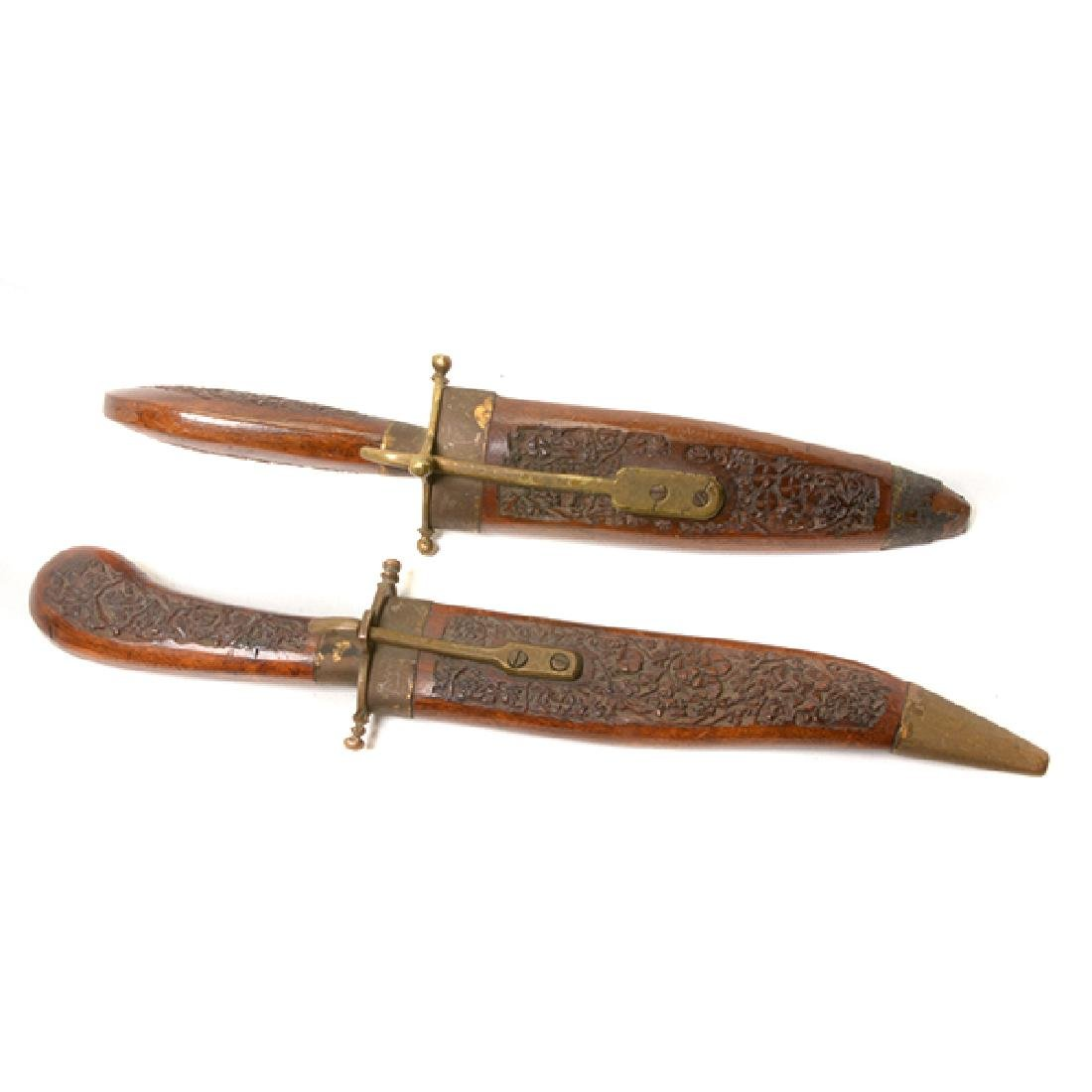 Seven Handmade Daggers and an Indian Shield - 3