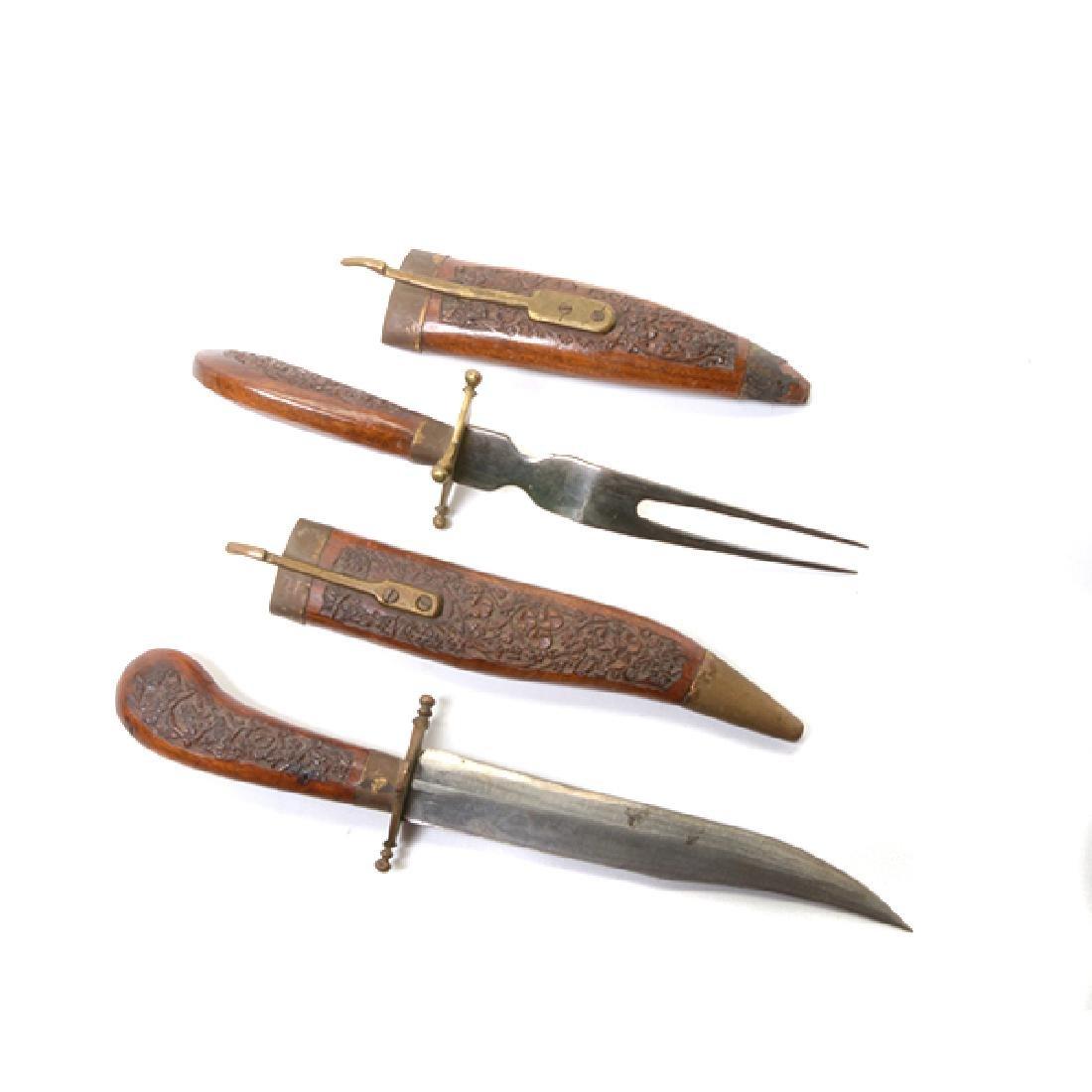 Seven Handmade Daggers and an Indian Shield - 4
