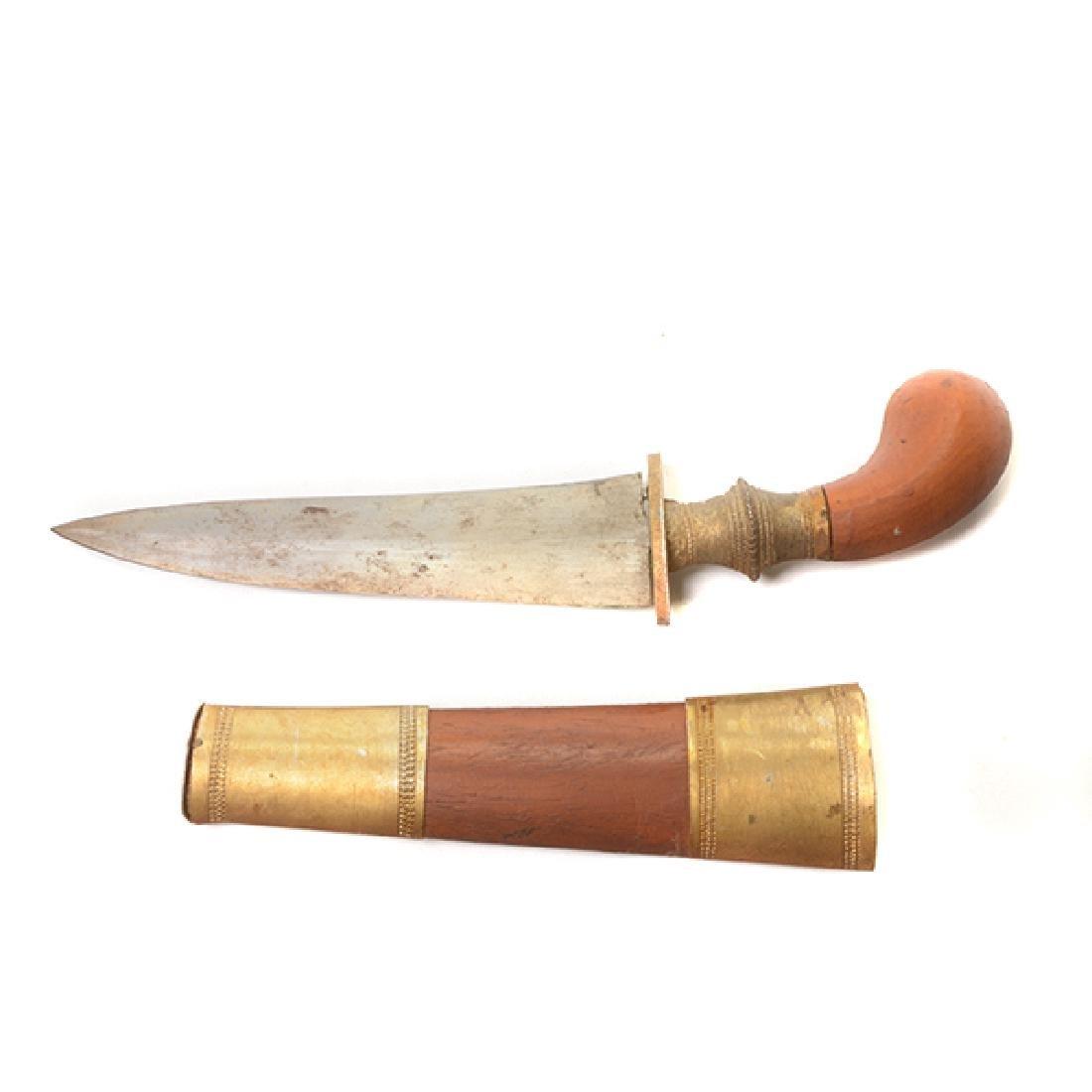 Seven Handmade Daggers and an Indian Shield - 6
