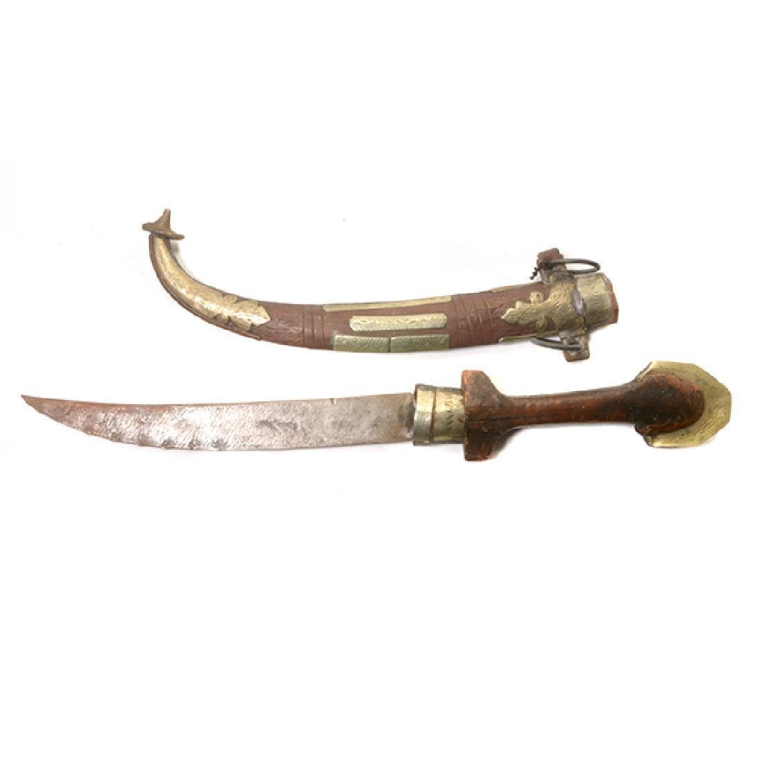 Seven Handmade Daggers and an Indian Shield - 8