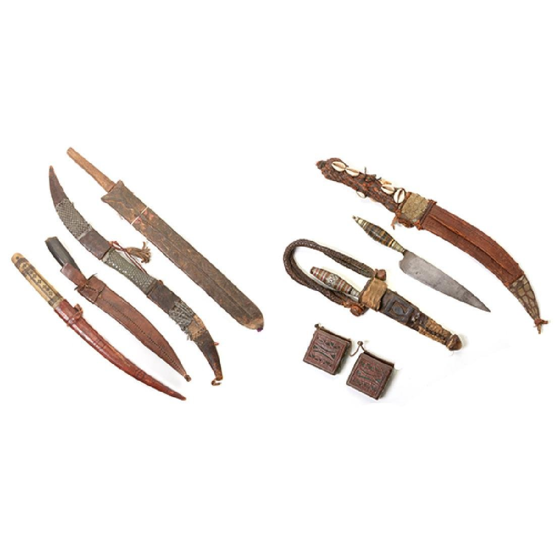 Six Handmade Daggers and One Machete