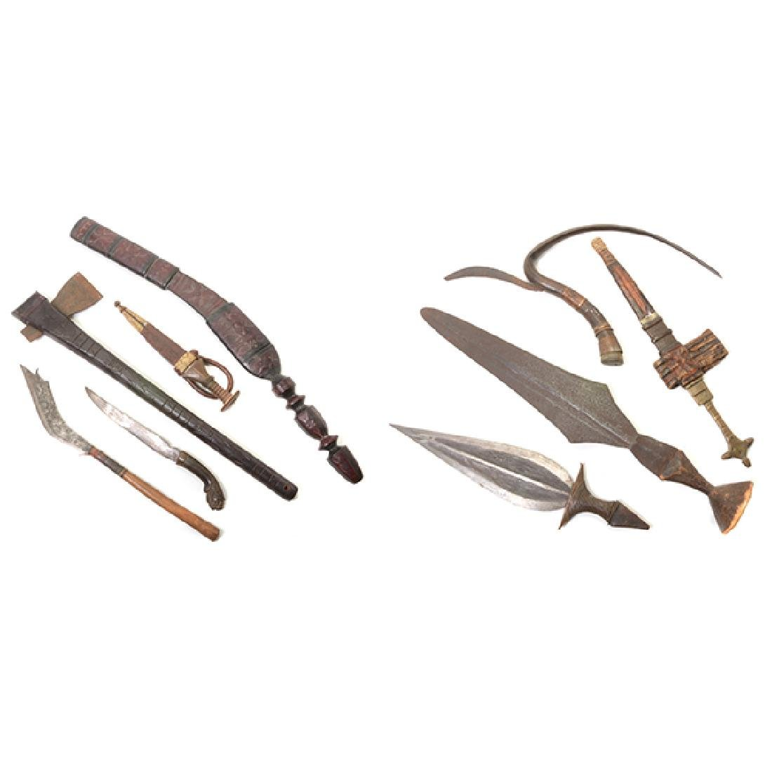 Collection of Southeast Asian and African Blades with