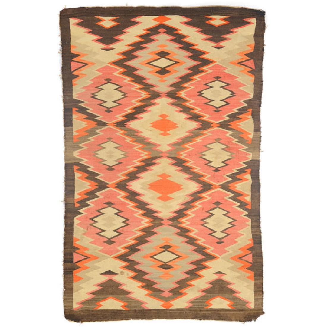 Navajo Rug with Patchwork Diamond