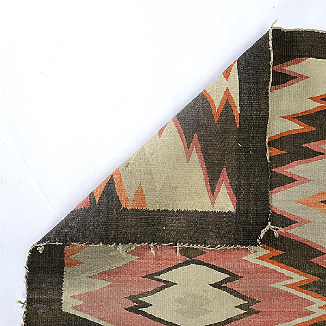 Navajo Rug with Patchwork Diamond - 3