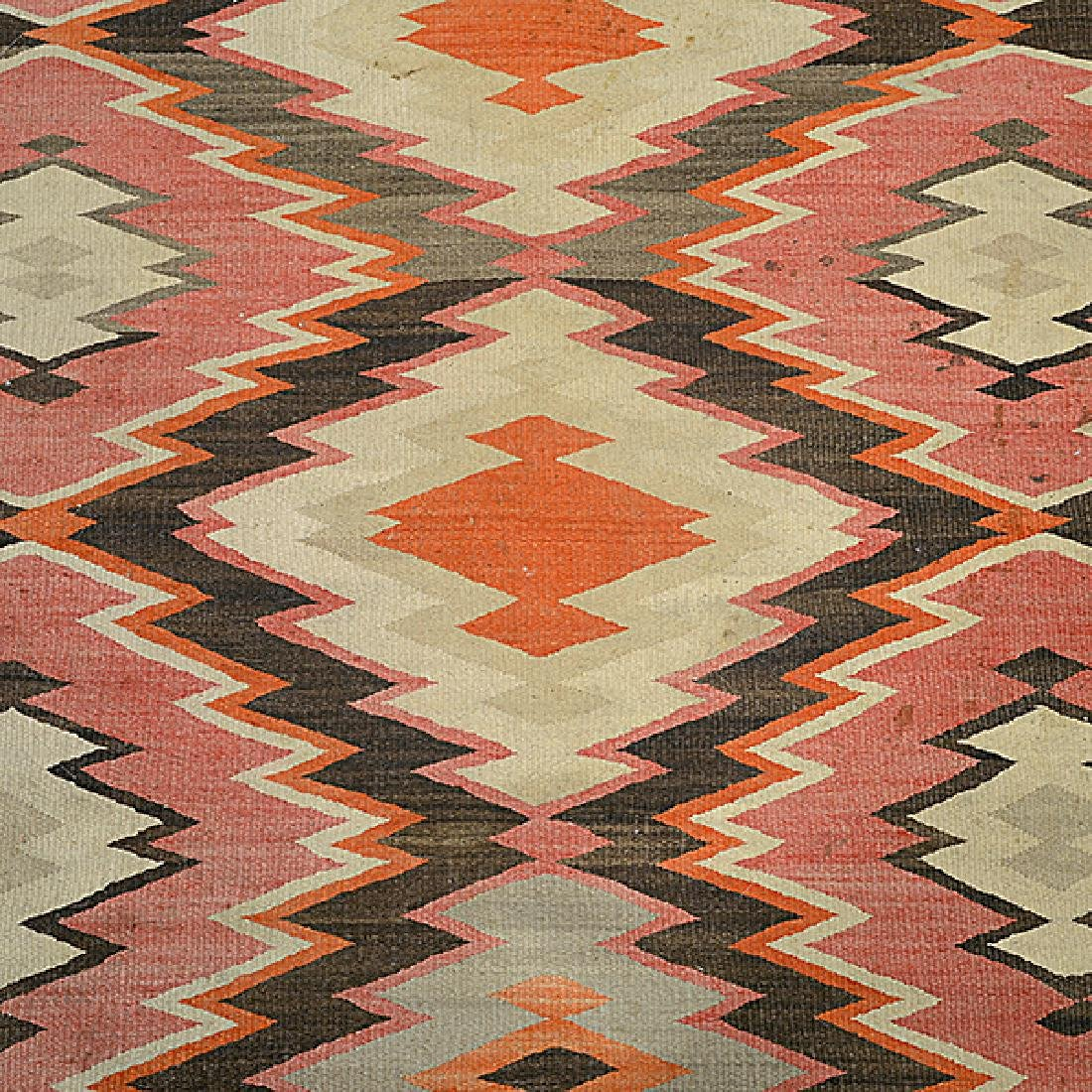 Navajo Rug with Patchwork Diamond - 4
