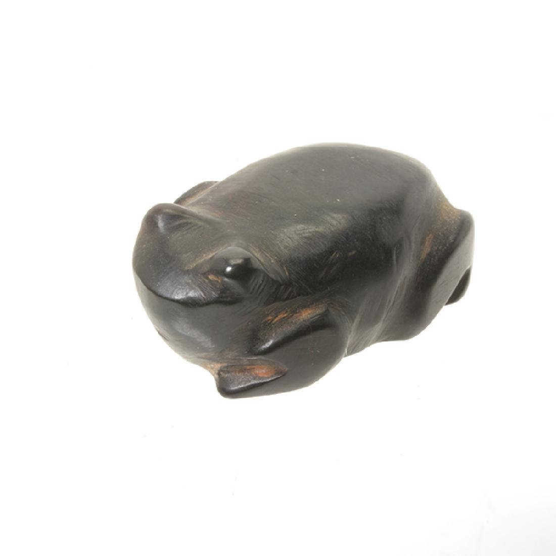Ten Zuni Stone Animal Form Fetishes and Silver Figure - 6