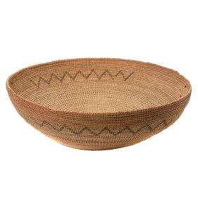 Large Mission Coiled Basketry Bowl