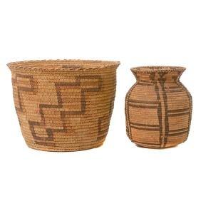 Pima Olla Basket with Papago Basket
