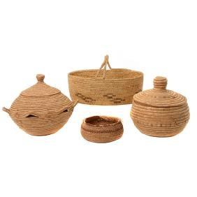 Four Papago Pima or Inuit Baskets