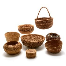Collection of Northwest Coast and Inuit Baskets