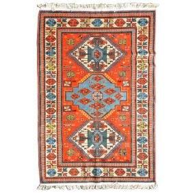 Kazak Rug: 4 feet 7 inches x 6 feet 10 inches