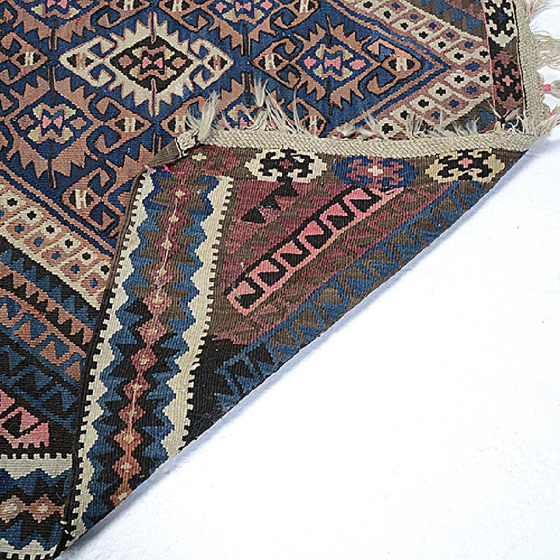Qasqai Kilim Carpet: 4 feet 8 inches x 9 feet 11 inches - 4