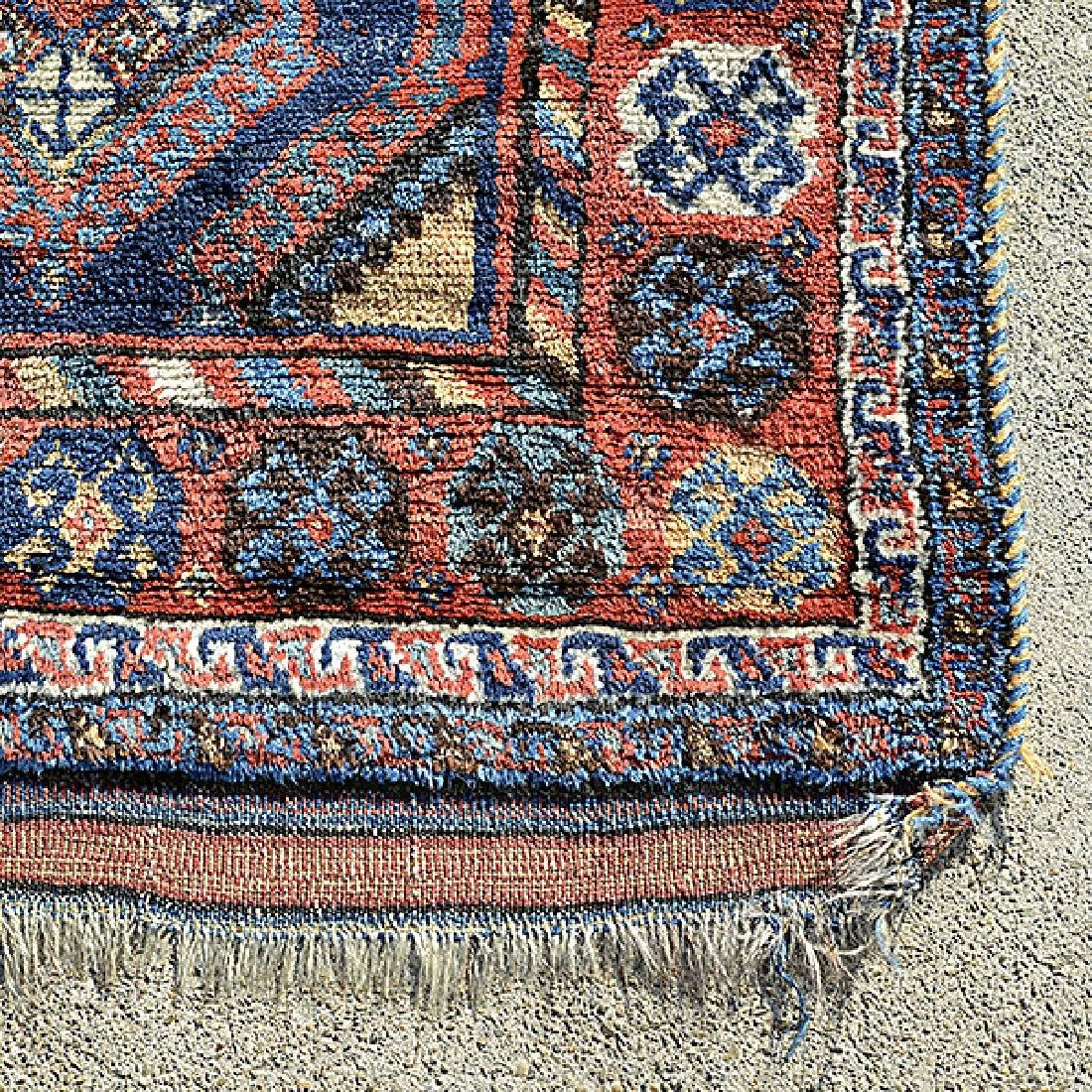Caucasian Rug in a Geometric: 4 feet 8 inches x 7 feet - 2
