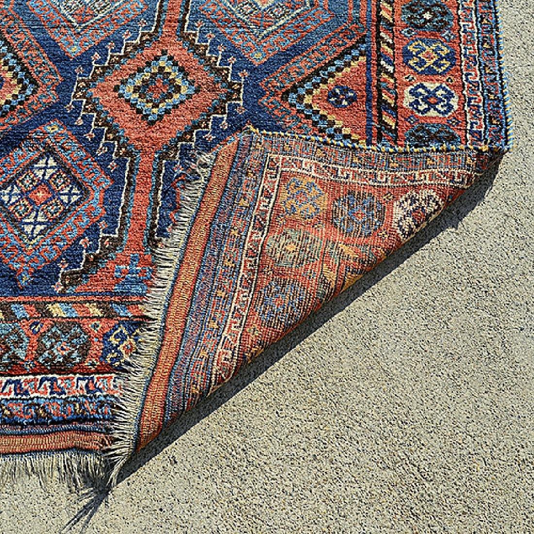 Caucasian Rug in a Geometric: 4 feet 8 inches x 7 feet - 3