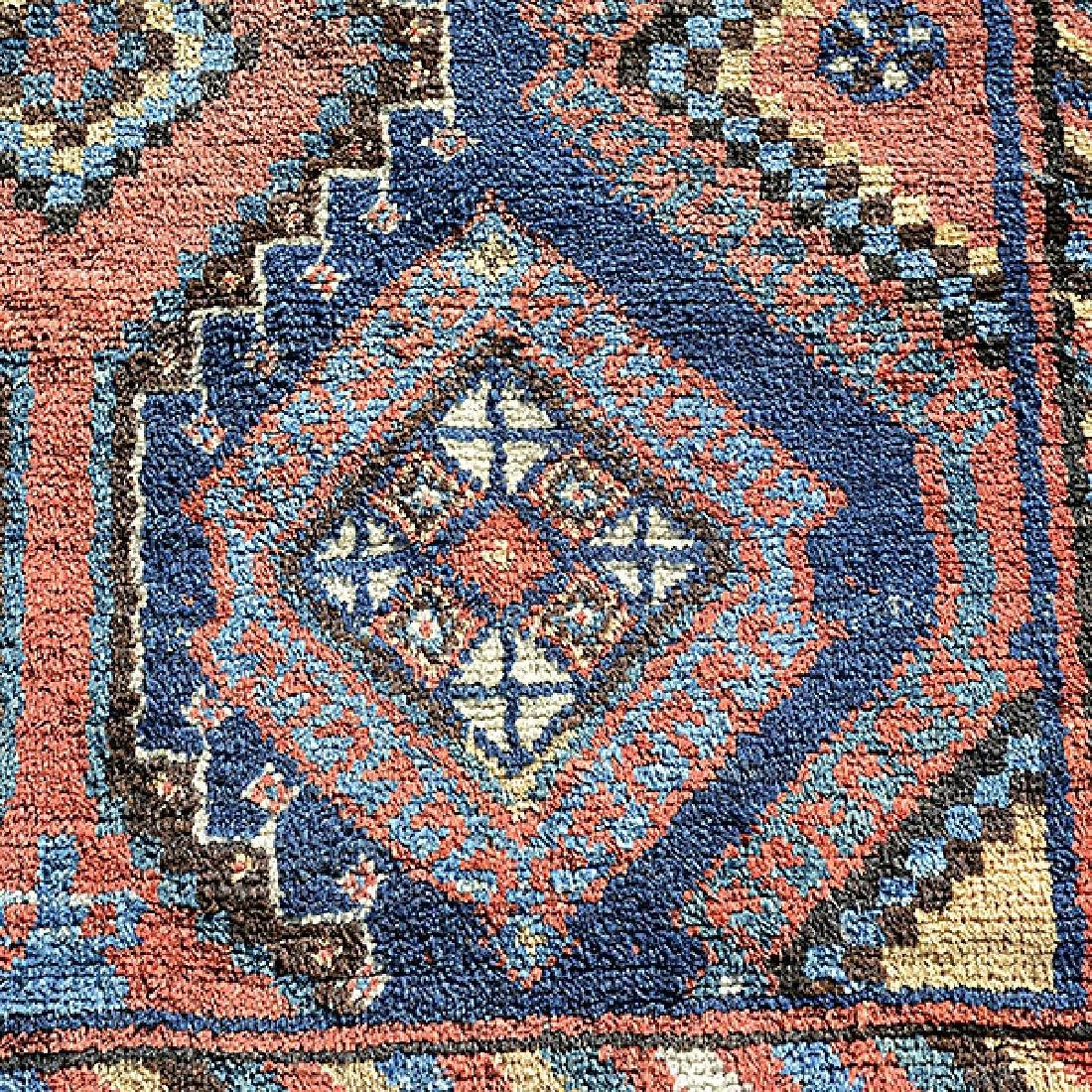 Caucasian Rug in a Geometric: 4 feet 8 inches x 7 feet - 4