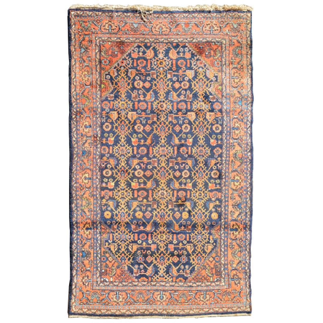Hamadan Rug: 4 feet 5 inches x 6 feet 9 inches