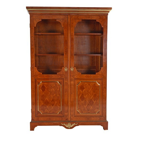Contemporary French Style Inlaid Bookcase