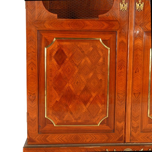 Contemporary French Style Inlaid Bookcase - 6
