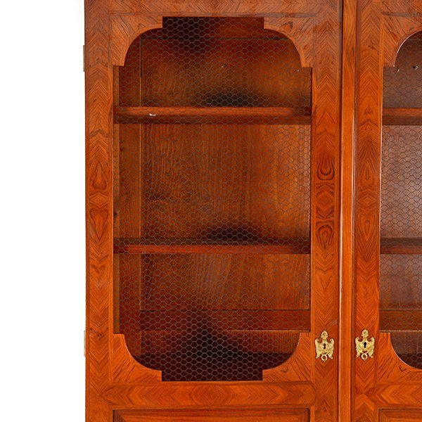 Contemporary French Style Inlaid Bookcase - 7