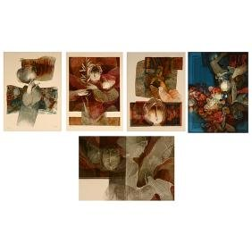 Alvar Sunol 5 lithographs from the Barcelona Series