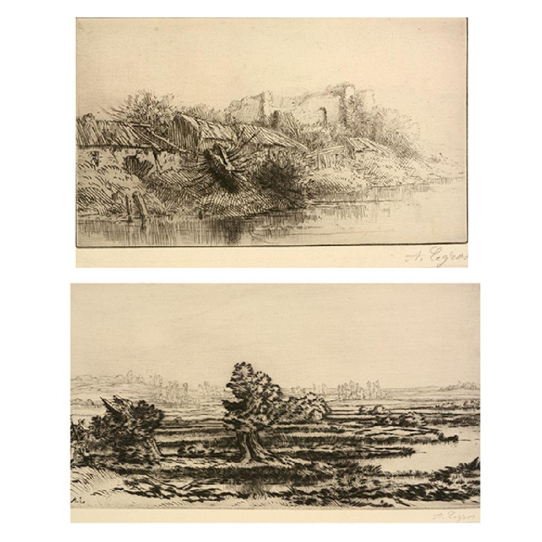 "Alphonse Legros ""Les Tombieres"" and ""La Village"