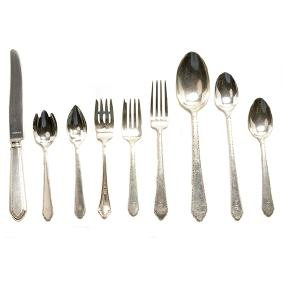 """Lunt """"William and Mary"""" Sterling Flatware Service"""
