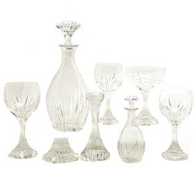 "Suite of Baccarat ""Massena"" Crystal Stemware"
