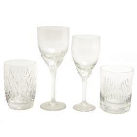 Collection of Crystal Stemware and Old Fashioned