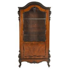 Louis XV Style Ebonized Display Cabinet