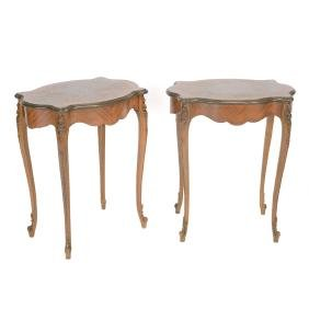 Pair of Italian Marquetry Tables