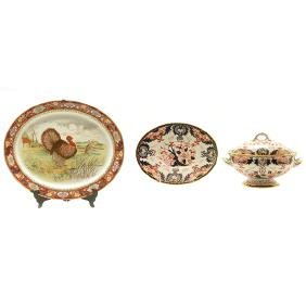 Royal Crown Derby Sauce Boat and Imari Platter