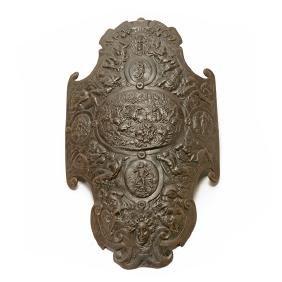 Italian Roman Cast Iron Shield, 19th Century