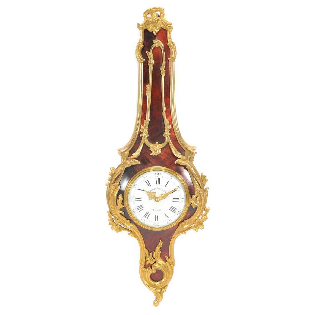 Swiss Louis XV Style Gubelin Cartel Clock