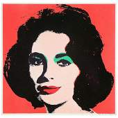 Andy Warhol Liz color offset lithograph
