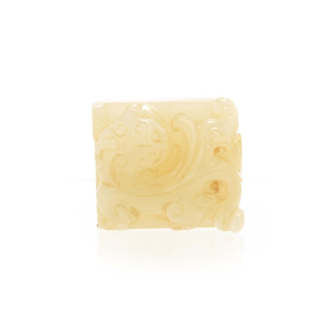Small White Jade Seal, Qing Dyansty - 2