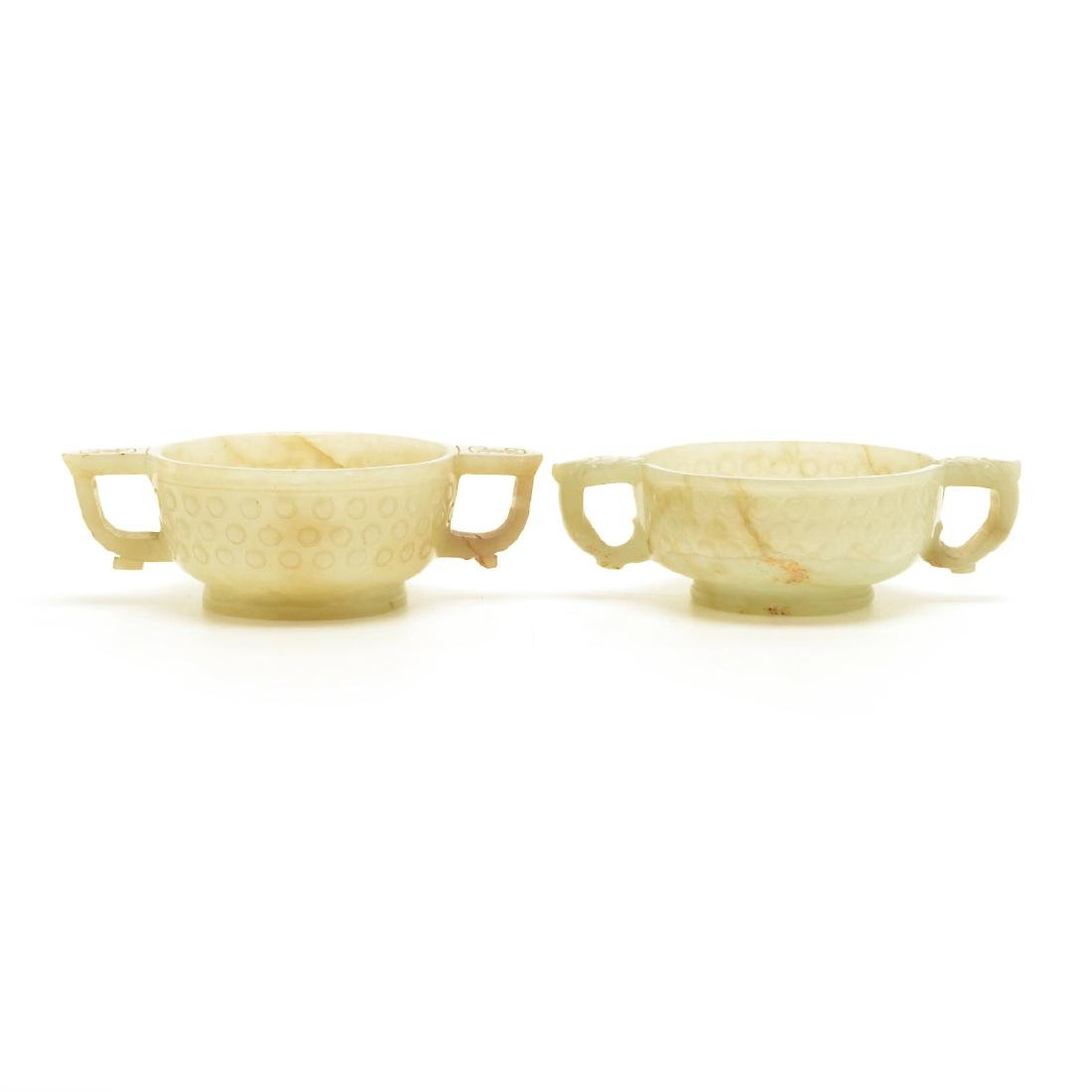 Two Jade Libation Cups, 18th Century - 2