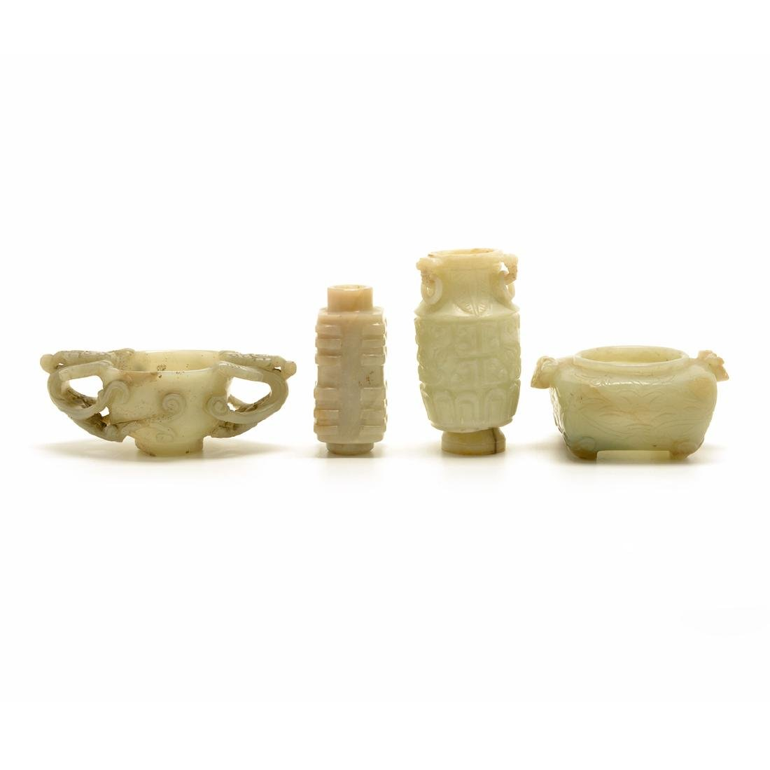 Four Jade Carvings, Ming Dynasty and Later