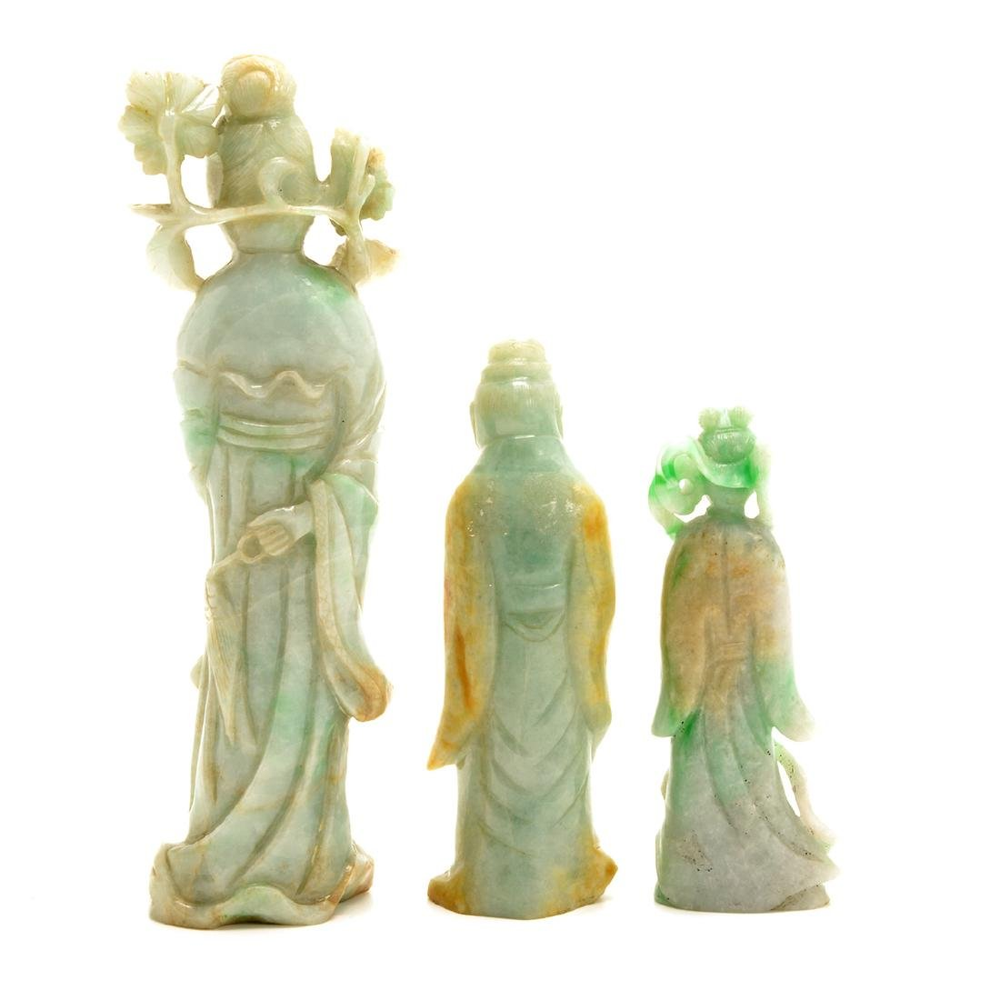 Three Green Jadeite Figural Carvings, 19th Century - 3