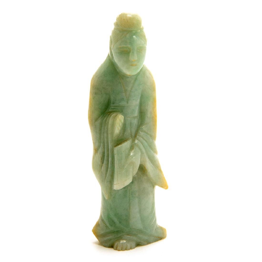 Three Green Jadeite Figural Carvings, 19th Century - 6