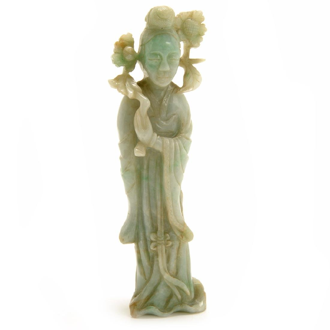 Three Green Jadeite Figural Carvings, 19th Century - 7