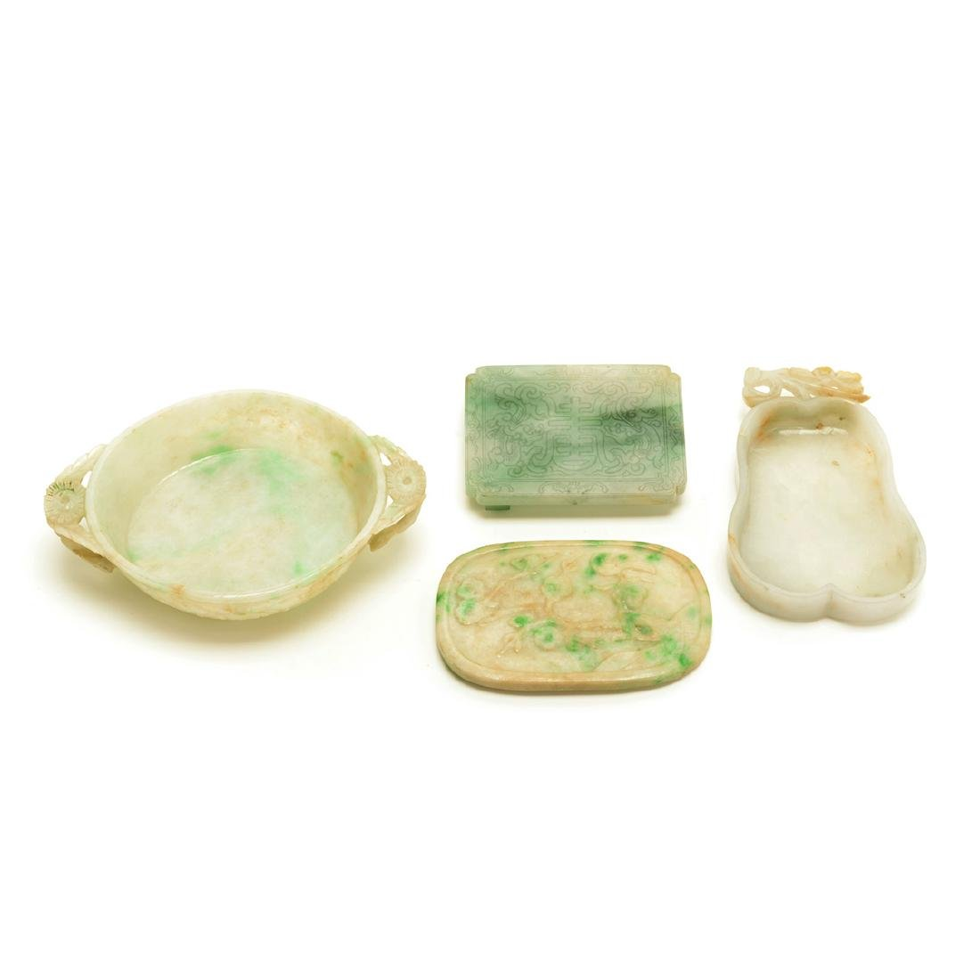Four Jadeite Carvings, Late Qing Dynasty