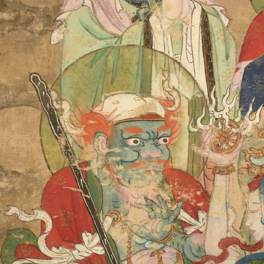 Anonymous: Three Buddhist Figural Painting Fragments - 3